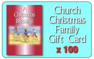 First Christmas pack cards 100