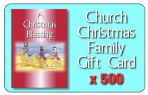 First Christmas pack cards 500